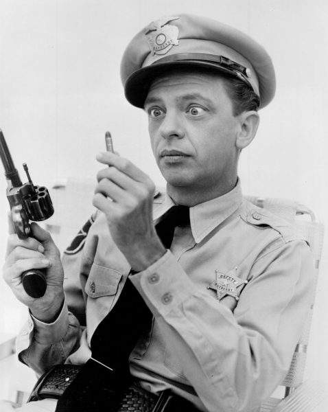Don Knotts from Andy Griffith Show, fumbling with loading bullets into his gun.  Some marketers may just not know that they are referring to ROAS rather than calculating Advertising ROI