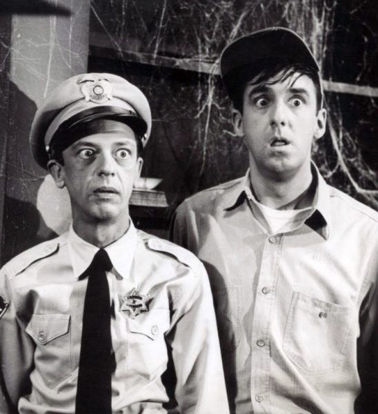 Don Knotts and Jim Nabors from Andy Griffith Show looking confused - How Clients may react to how you calculate Advertising ROI