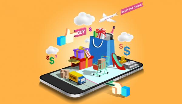 m-commerce vs. e-commerce sales